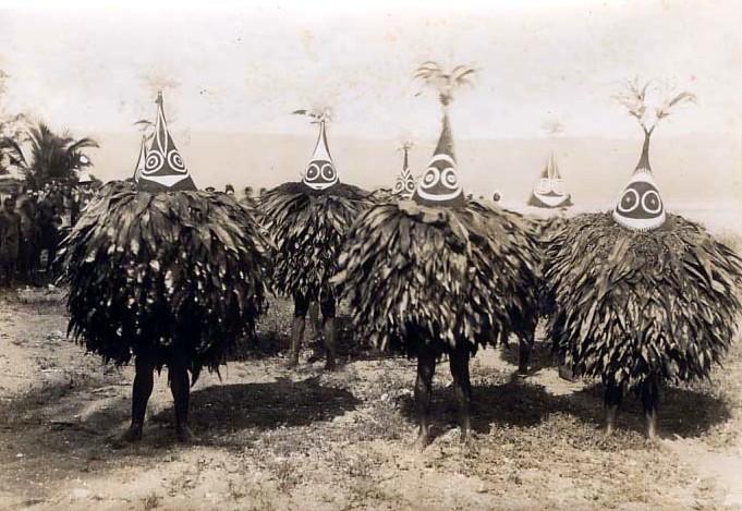 Duk-duk dancers, 1913.