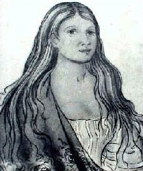 Commonly thought to be a depiction of Nancy Ward by George Catlin. 1836.