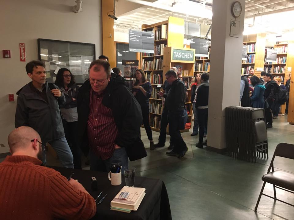 The book signing line drifted back into the stacks. I loved this part, getting to meet and talk to everyone.