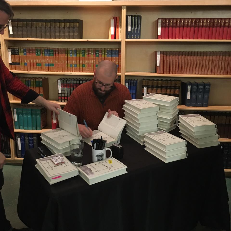 After I'd signed everybody's books, I signed stock for Powell's. (By the way, if you weren't able to be at the event but you want a signed book, contact Powell's! They have a few now.)