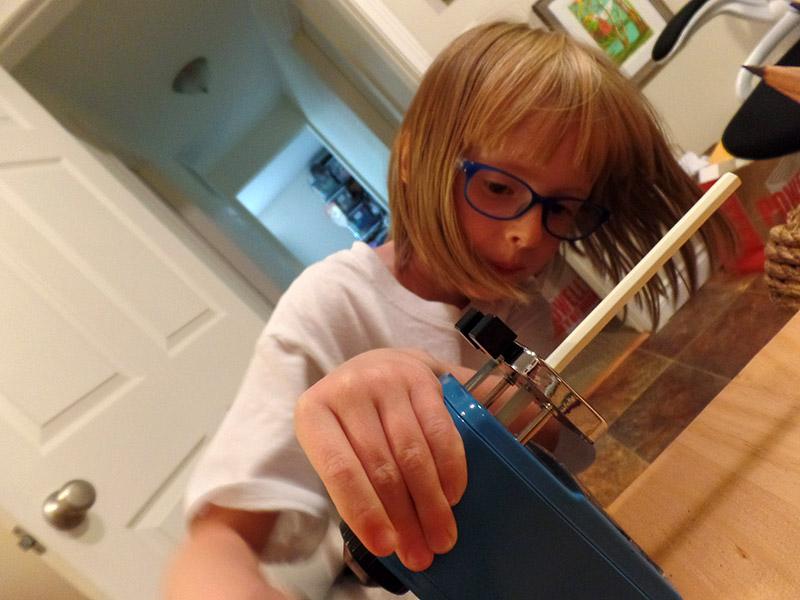 Bonus: The resident kiddo sharpening her love for pencils.