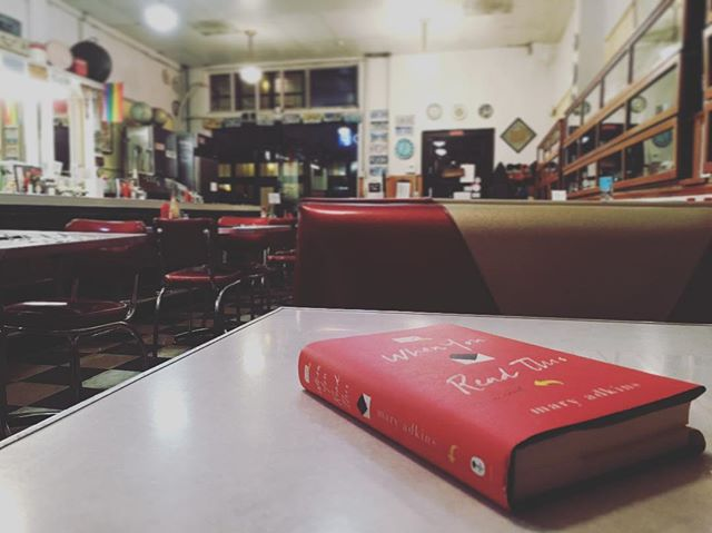 Whole diner to myself with a good book (When You Read This by @adkinsmary).