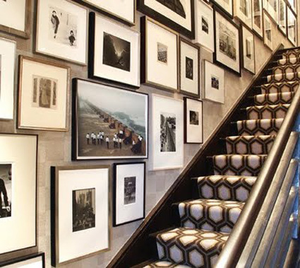 Superb A Graphic David Hicks Runner Compliments The Black And White Photo Gallery  In This Hallway. Eric Cohler Design Via All The Best
