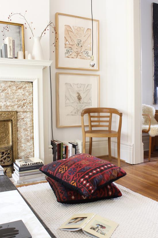 kilim floor pillows — The Marion House Book