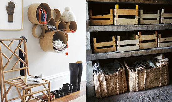 I love the idea of using existing materials  the circles above are made  from cardboard tubes found at your local hardware store  to create storage  that is. 5 bedroom storage solutions   The Marion House Book