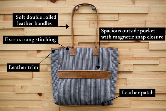 giveaway - fabric & handle tote bag — The Marion House Book