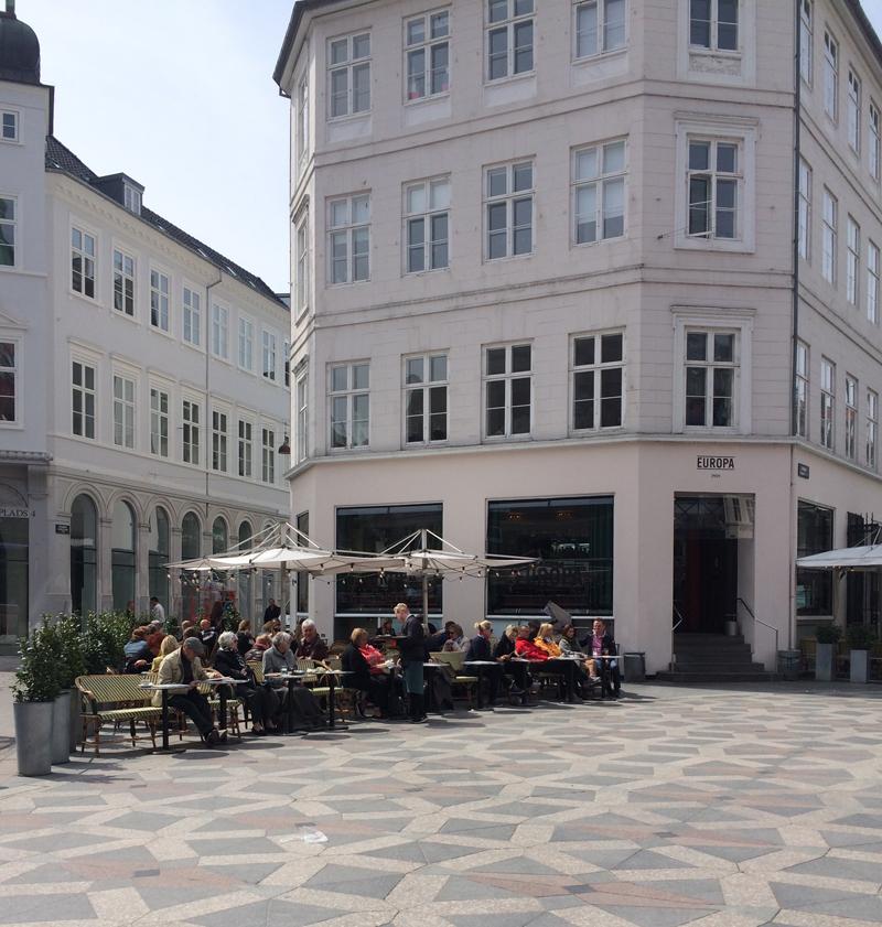 Street scenes from Østergade.