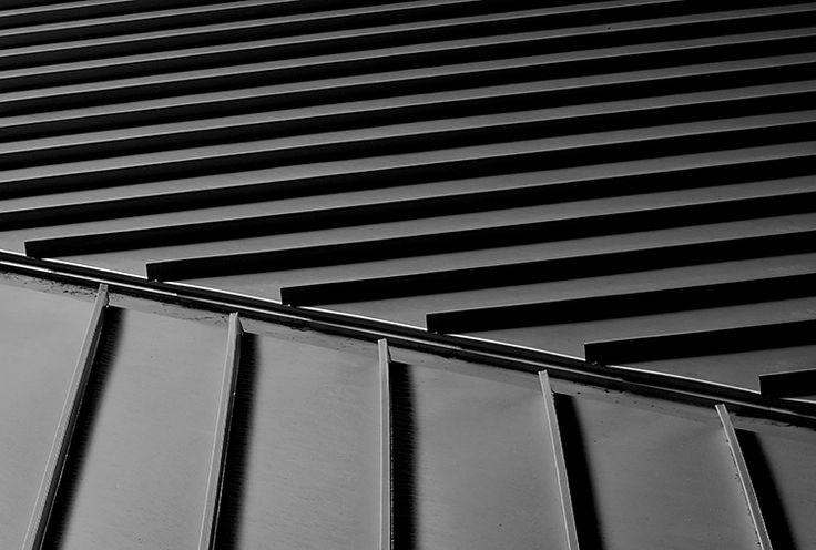 Black standing seam roof