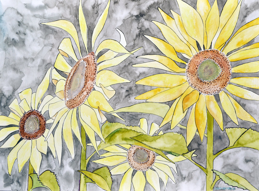FourSunFlowers-Watercolor-2017.jpg