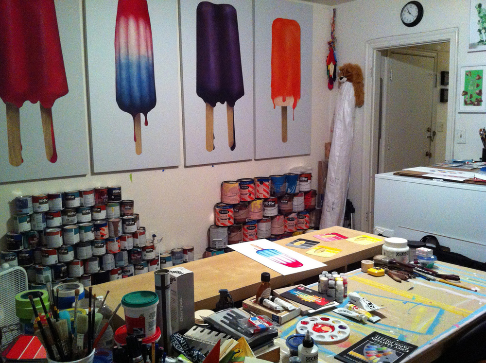 Cory's studio.