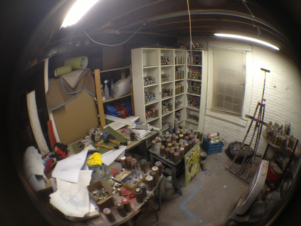 Gregg's studio.
