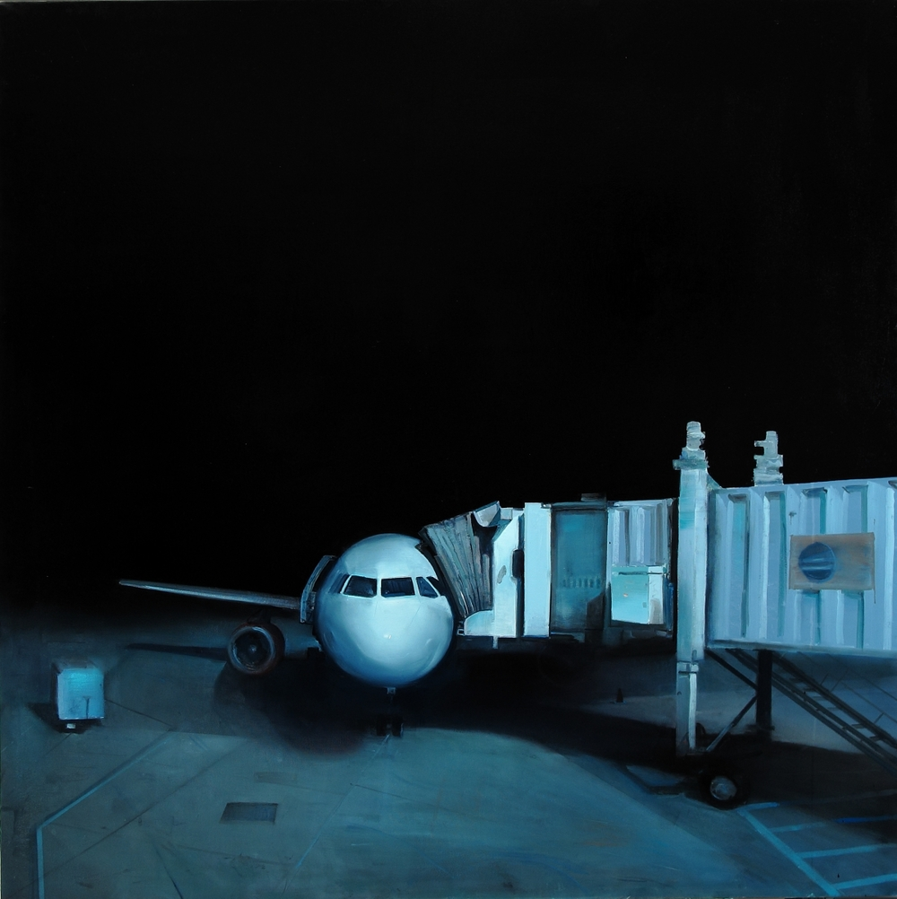 "Ground Truth, 50""x50"", oil on canvas, 2012"