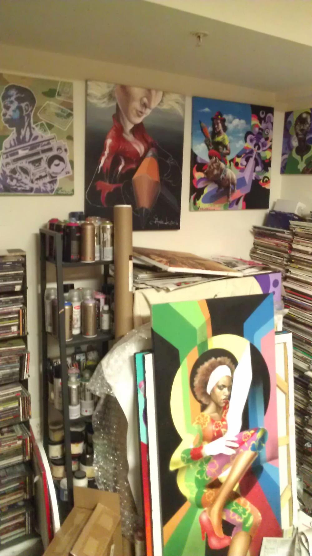 Aniekon's studio.