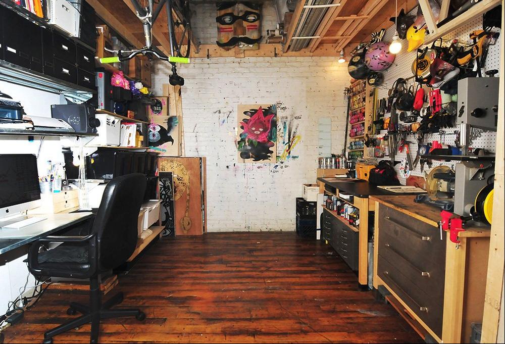Kelly's studio.