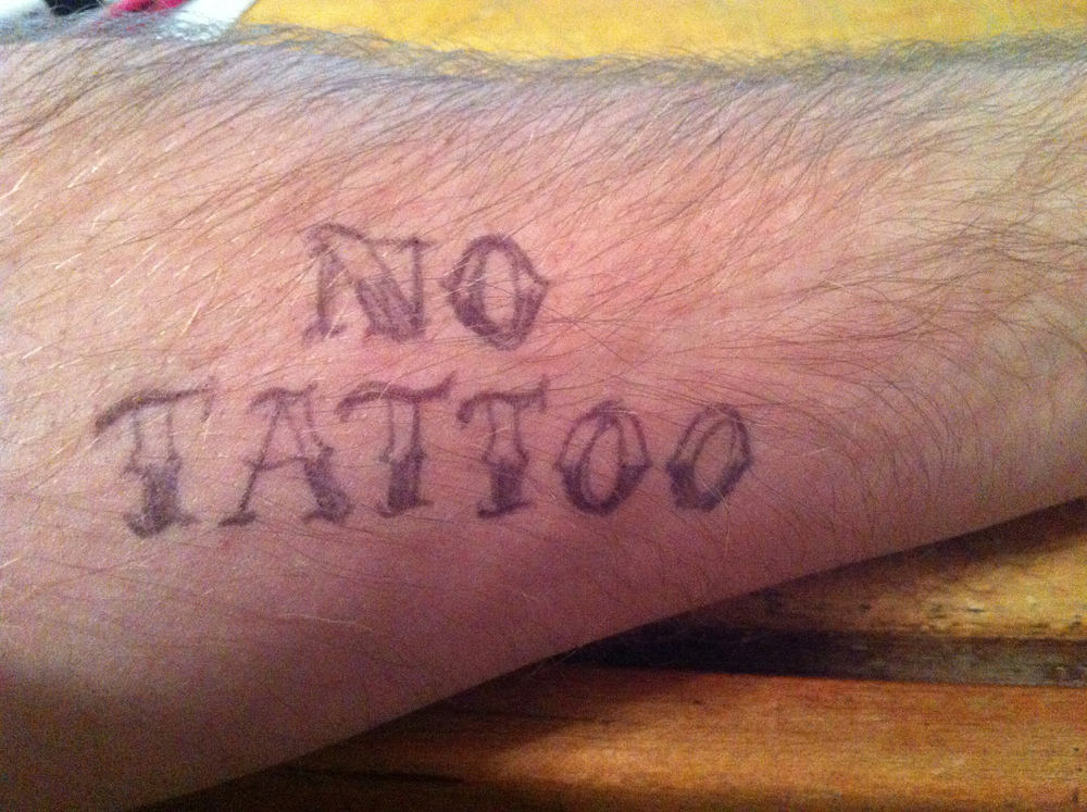 Cory's tattoo?