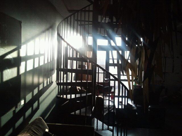 Michael's studio.