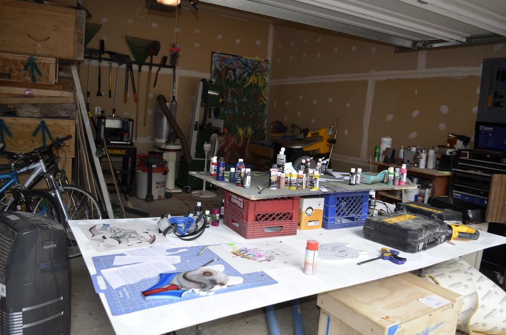 Drew's studio.