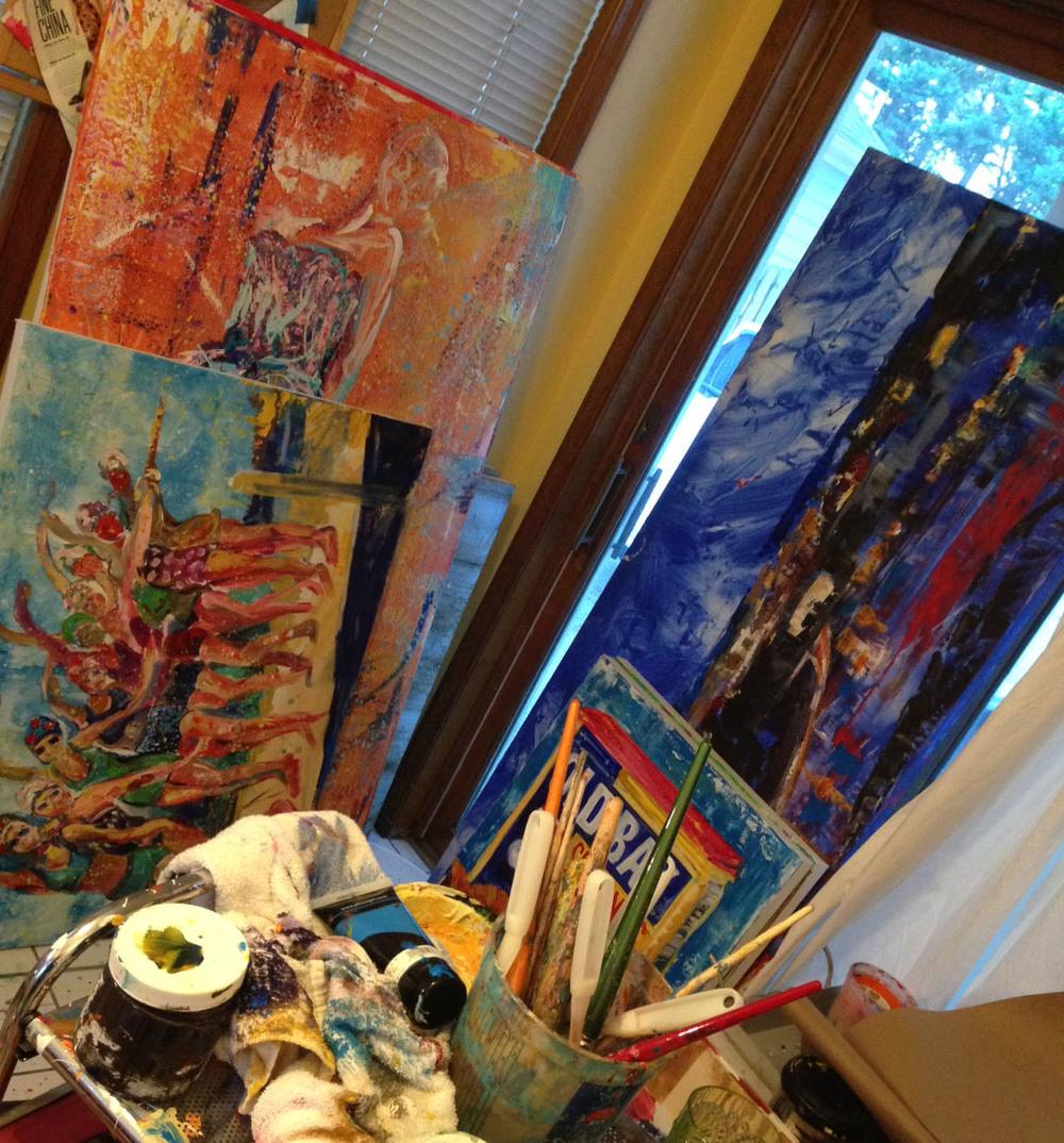 Maggie's studio.