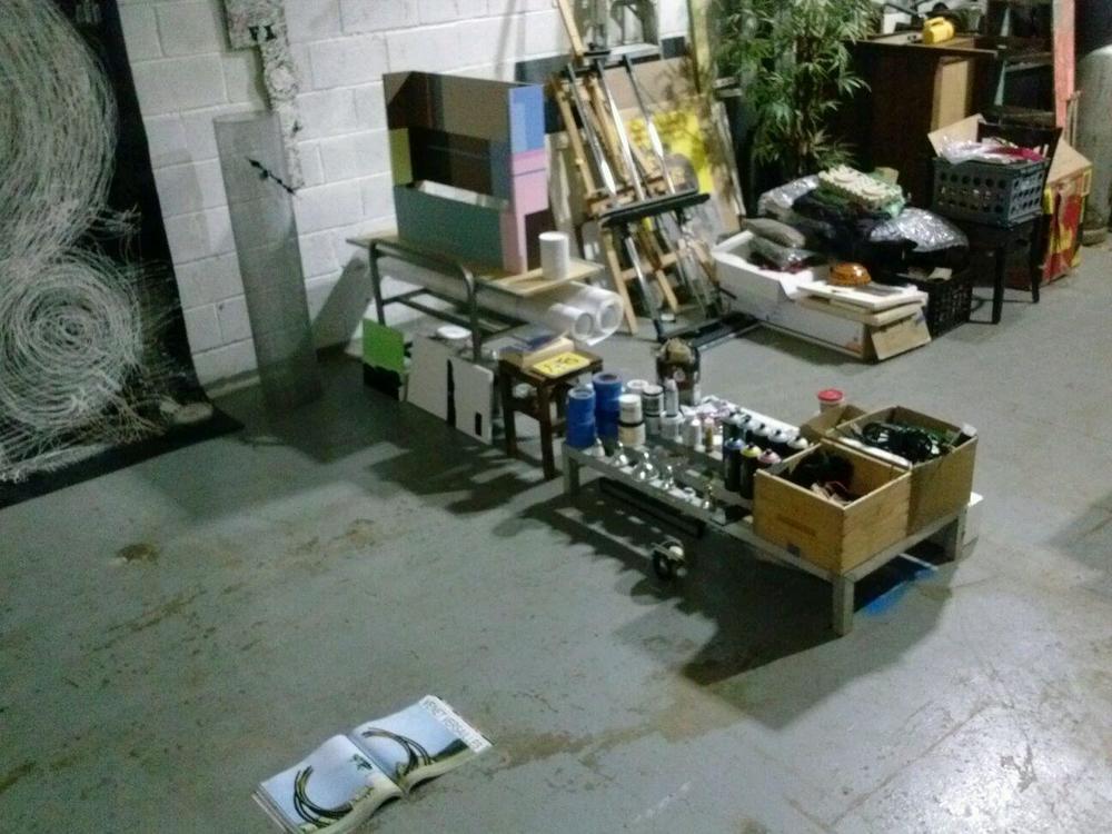 Tariq's studio.