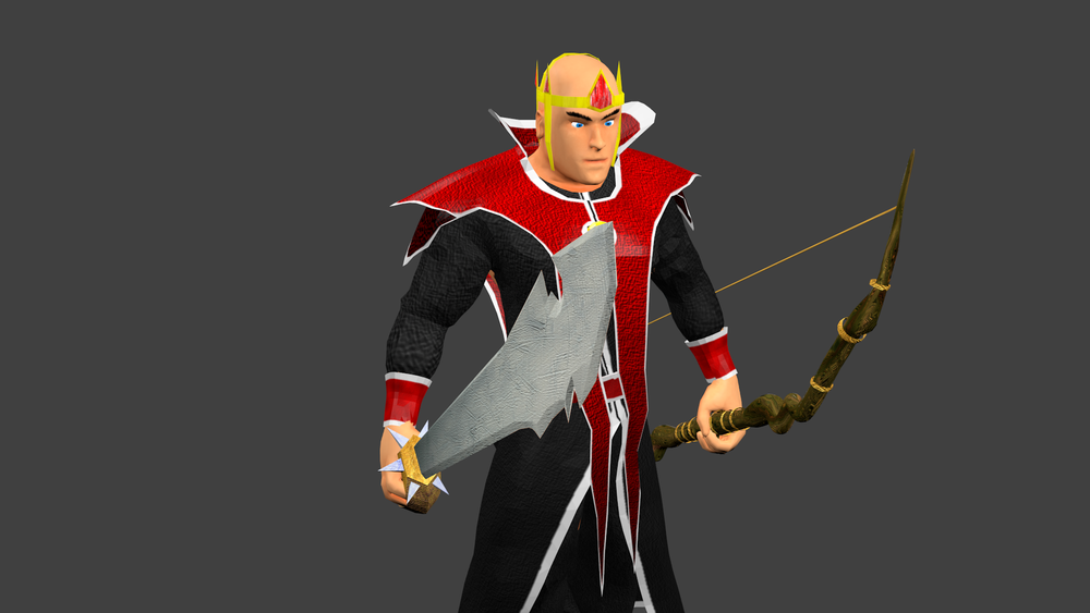 This is an example of what you can do with weaponry in Shibe Warz.  Each hand is able to hold onto a different weapon, and on your turn each of your characters can use one of their weapons' abilities on the battlefield.
