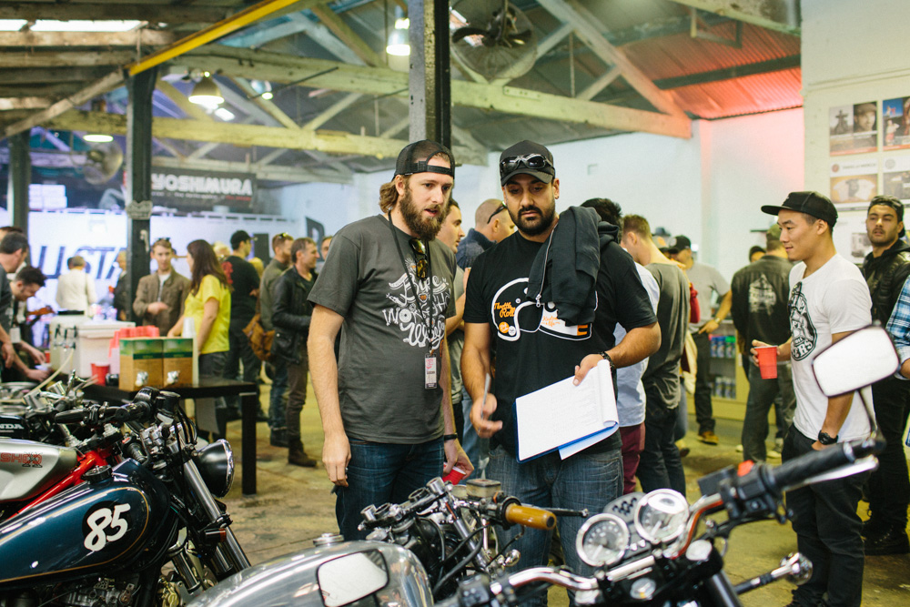 Show and Shine judges Mark Hawwa and Adrian Sheather  Photo: Kate Disher-Quill