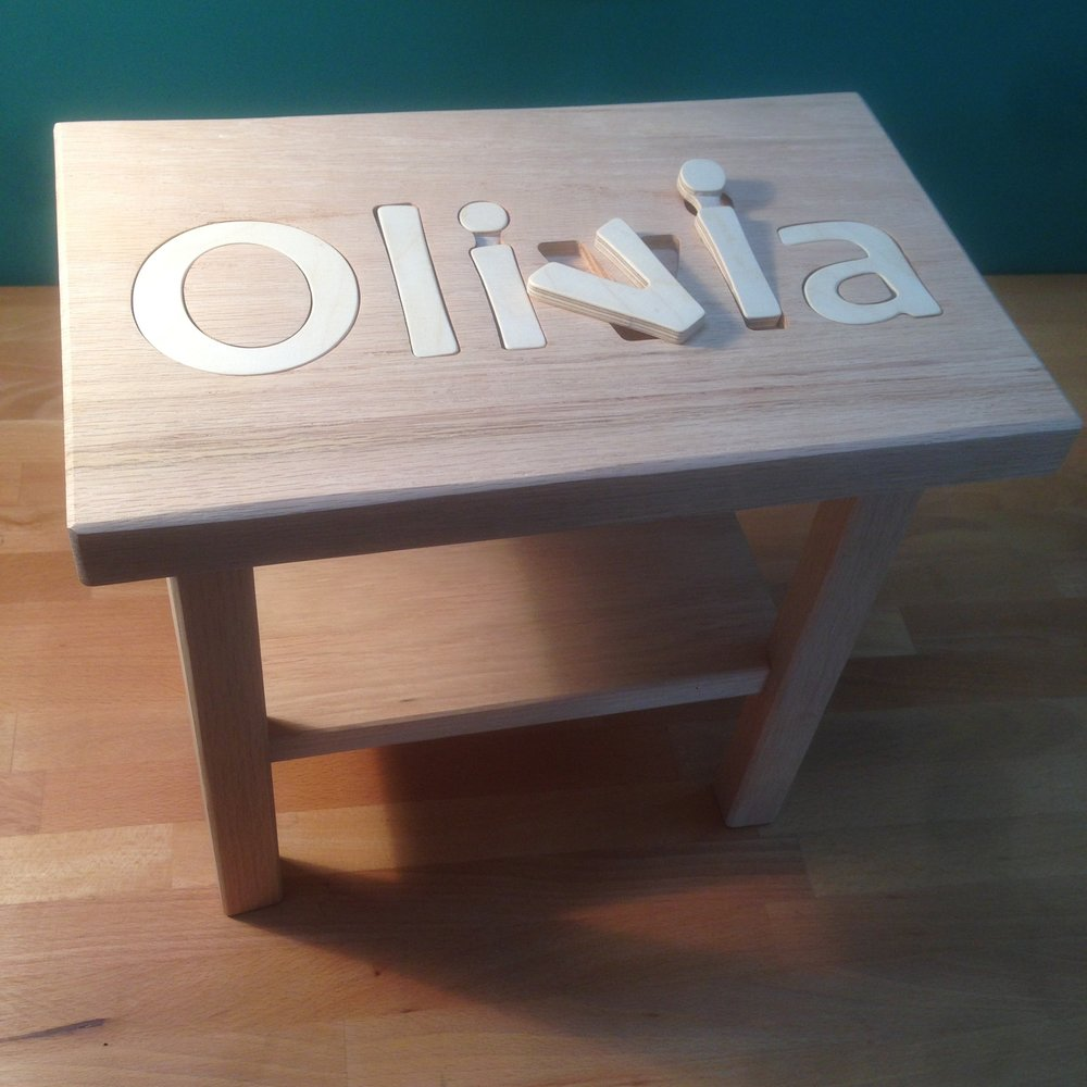 Oak Puzzle stools