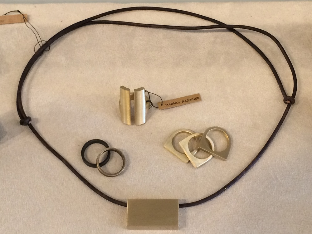 Marmol Radziner rings and necklace