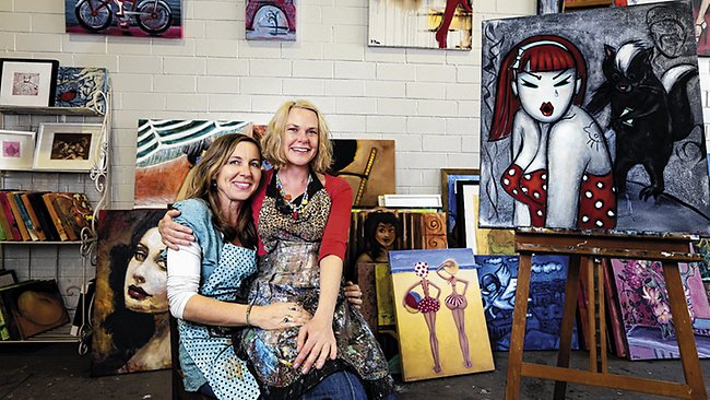 Petra Pinn & Laurie McKern @ Gallery Cats Studios,   Sydney Morning Herald, October 2012