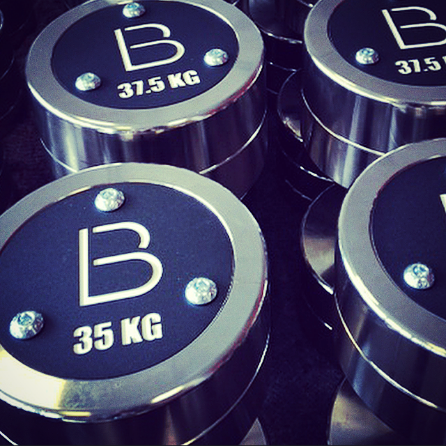 Our amazing new custom made Watson dumbbells with our logo
