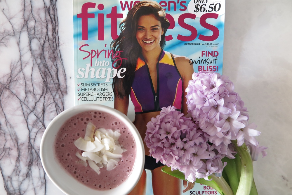 Women's Fitness Magazine and Bare Blends Bare Berries Smoothie