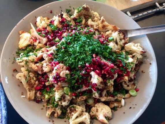 Jessica's Cauliflower and Pomegranate Salad