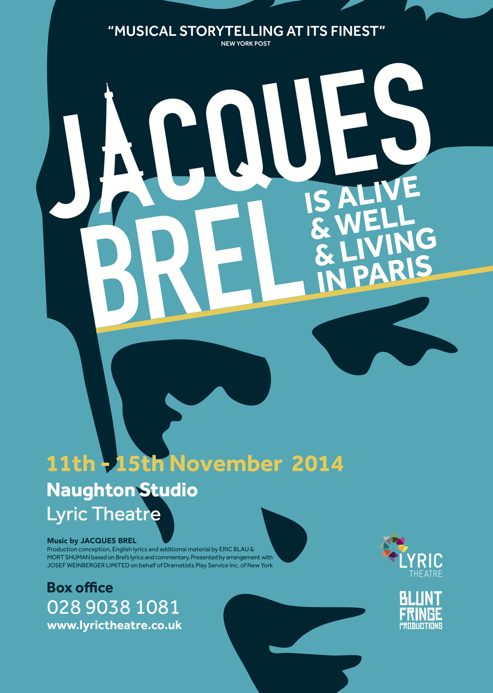 """Jacques Brel is Alive and Well and Living in Paris'"