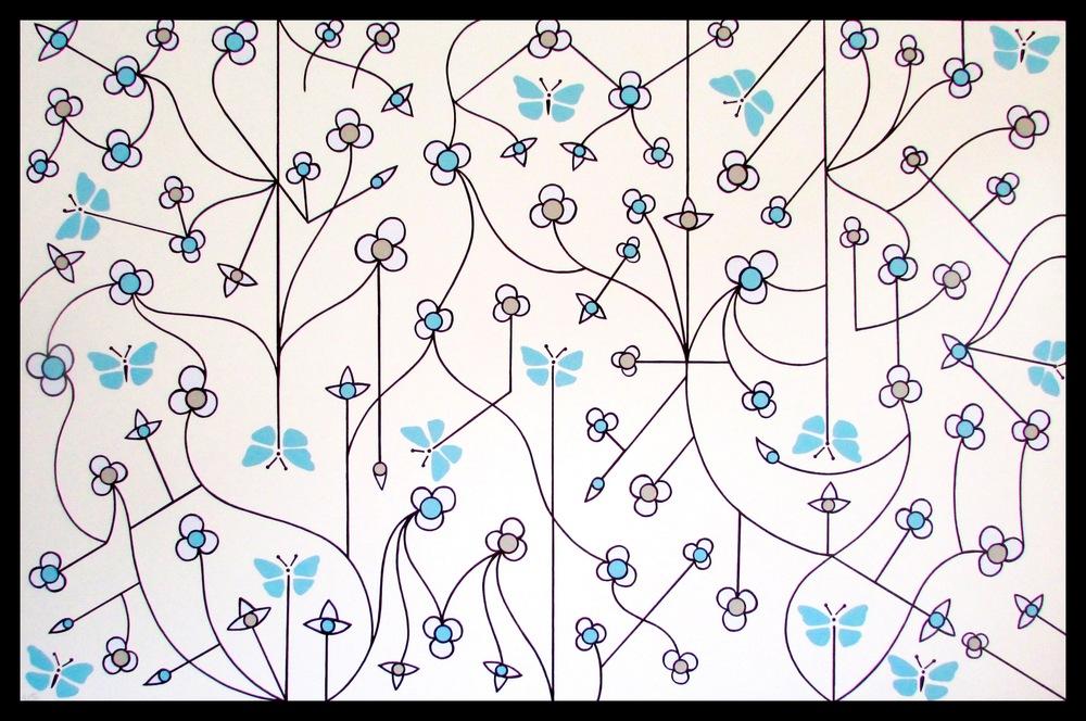 Damien Hirst Flower, Brand US Art, 48 x 72 inches.jpg