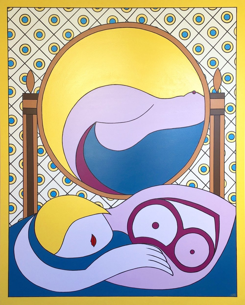 The Mirror (after Picasso), Brand Us Art, 60 x 48 inches.jpg