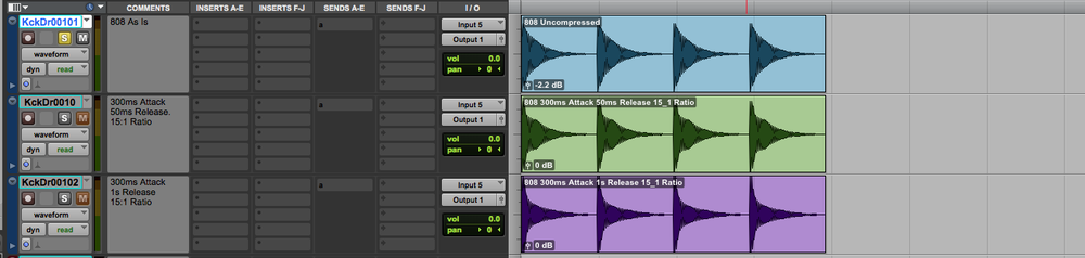 Just by looking at the waveforms theres a noticeable difference in transient to tail ratio.