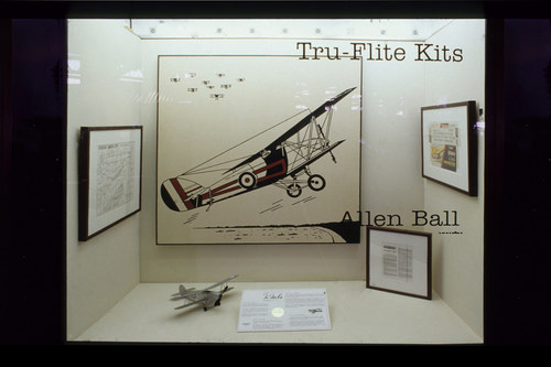 Installation view of  Tru-Flite Kits,  1997. The Alberta Aviation Museum, Edmonton, Alberta, Canada
