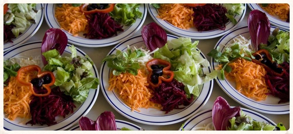 La alimentación vegetariana, con alto contenido en crudos, es un pilar básico del higienismo.  Foto: Casa de Reposo Los Madroños