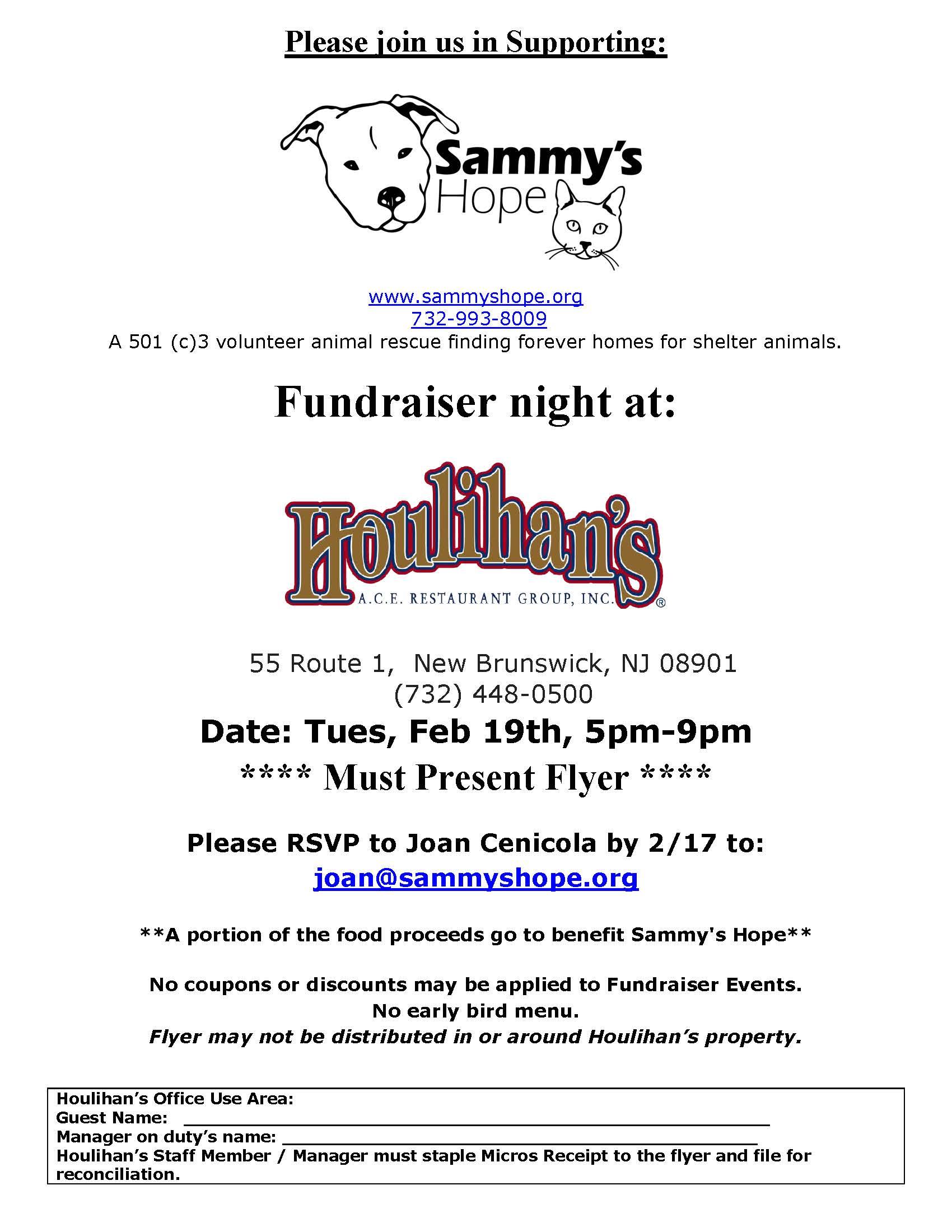 SammysHopeHoulihansFundraiser2013