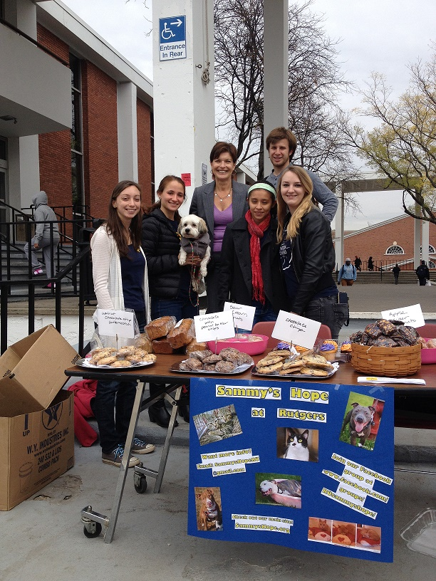 Sammy's Hope Outreach Coordinator Joan Cenicola with Sammy's Hope at Rutgers students