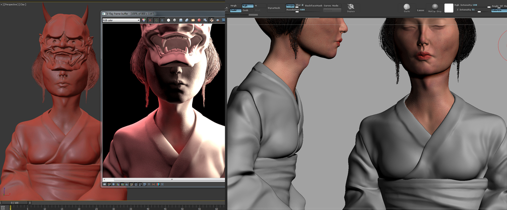The entire model was started on ZBrush and then moved on to 3DS Max for rendering