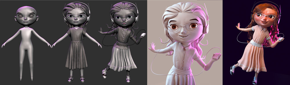 "By ""documenting"", I meant recording every iteration this character suffered from initial sculpt to eventual final render."