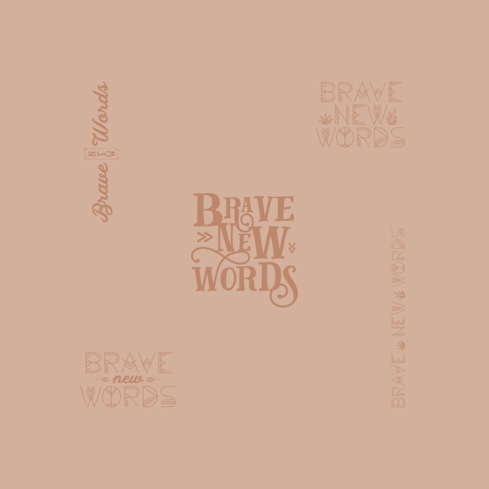 Brave New Words Logo Design