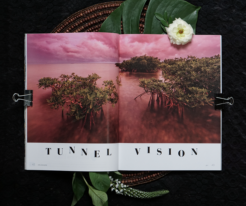 Feature Layout: Opal Magazine. Tunnel Vision.