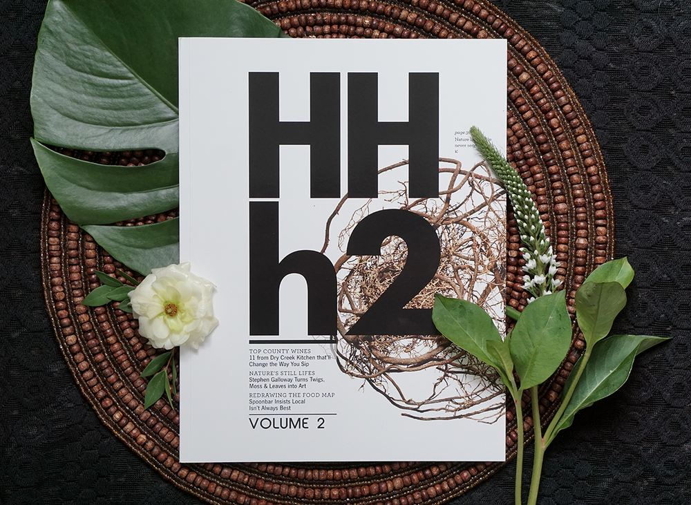 Cover and Feature Layout: Hotel Healdsburg Magazine.