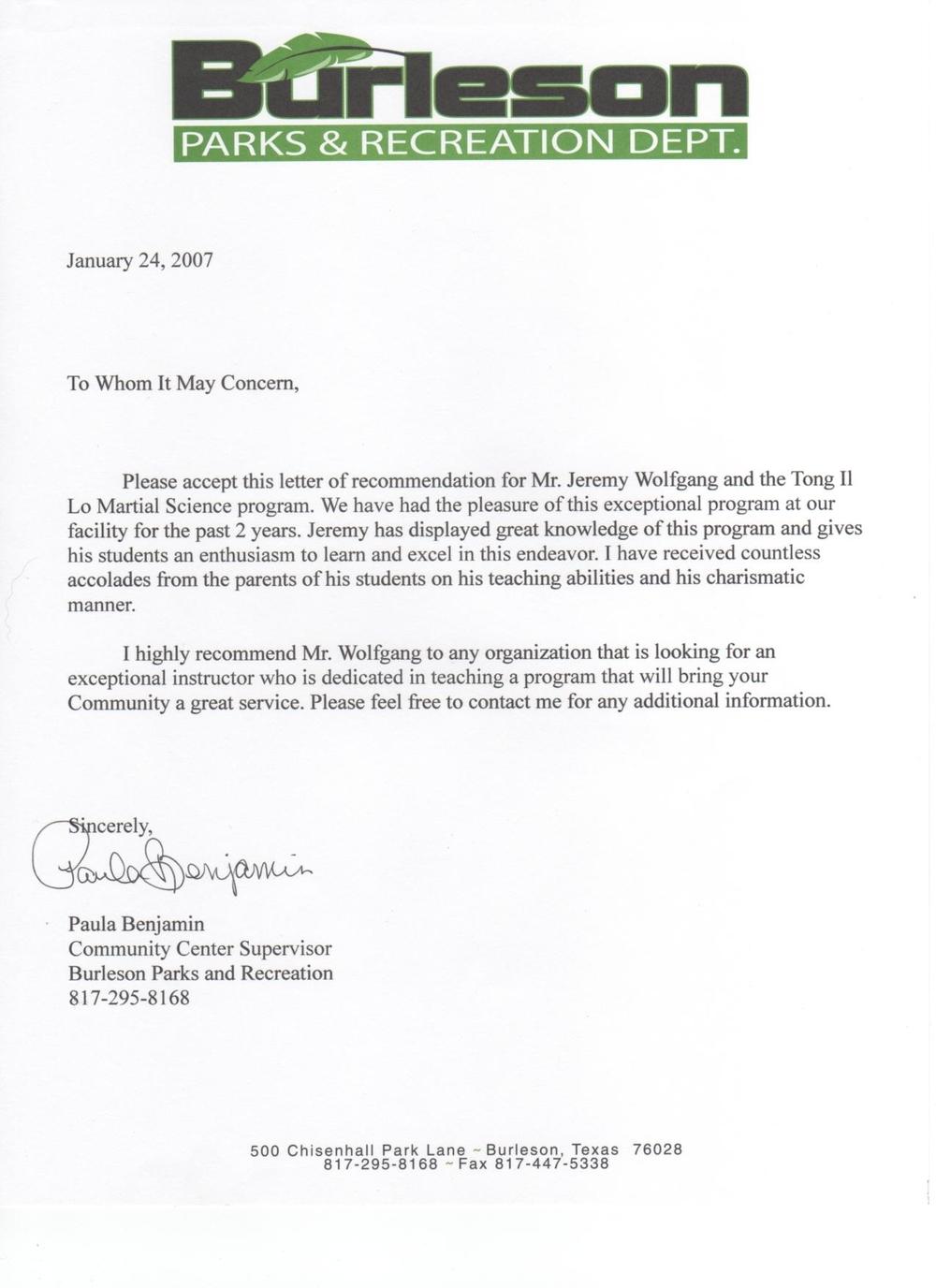 Burleson Recommendation Letter.JPG