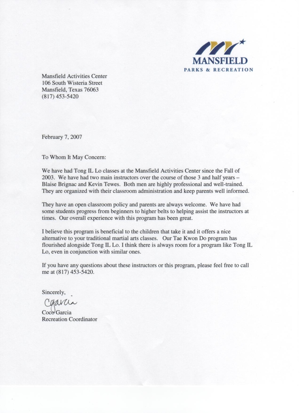 Mansfield Recommendation Letter.JPG
