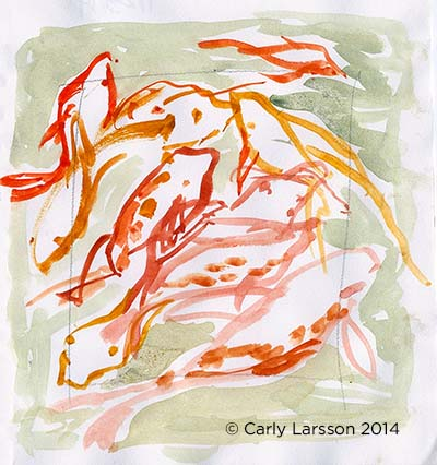 Koi fish at the Brooklyn Botanic Garden © Carly Larsson 2014