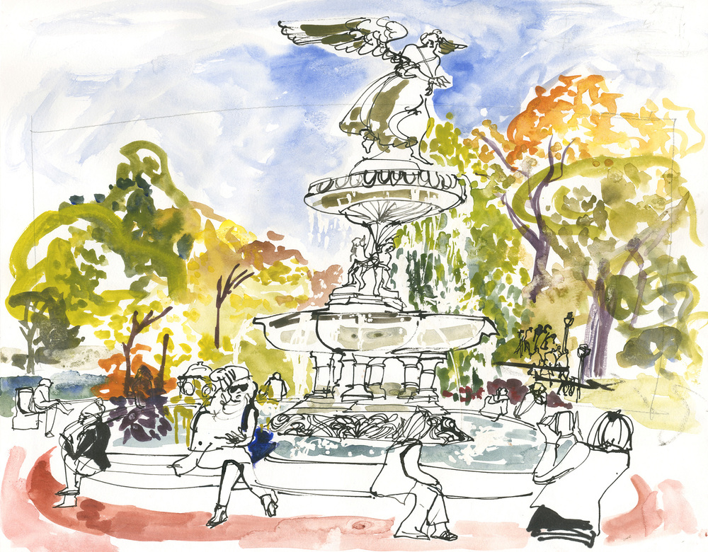 The Bethesda Fountain in Central Park NYC © Carly Larsson 2014
