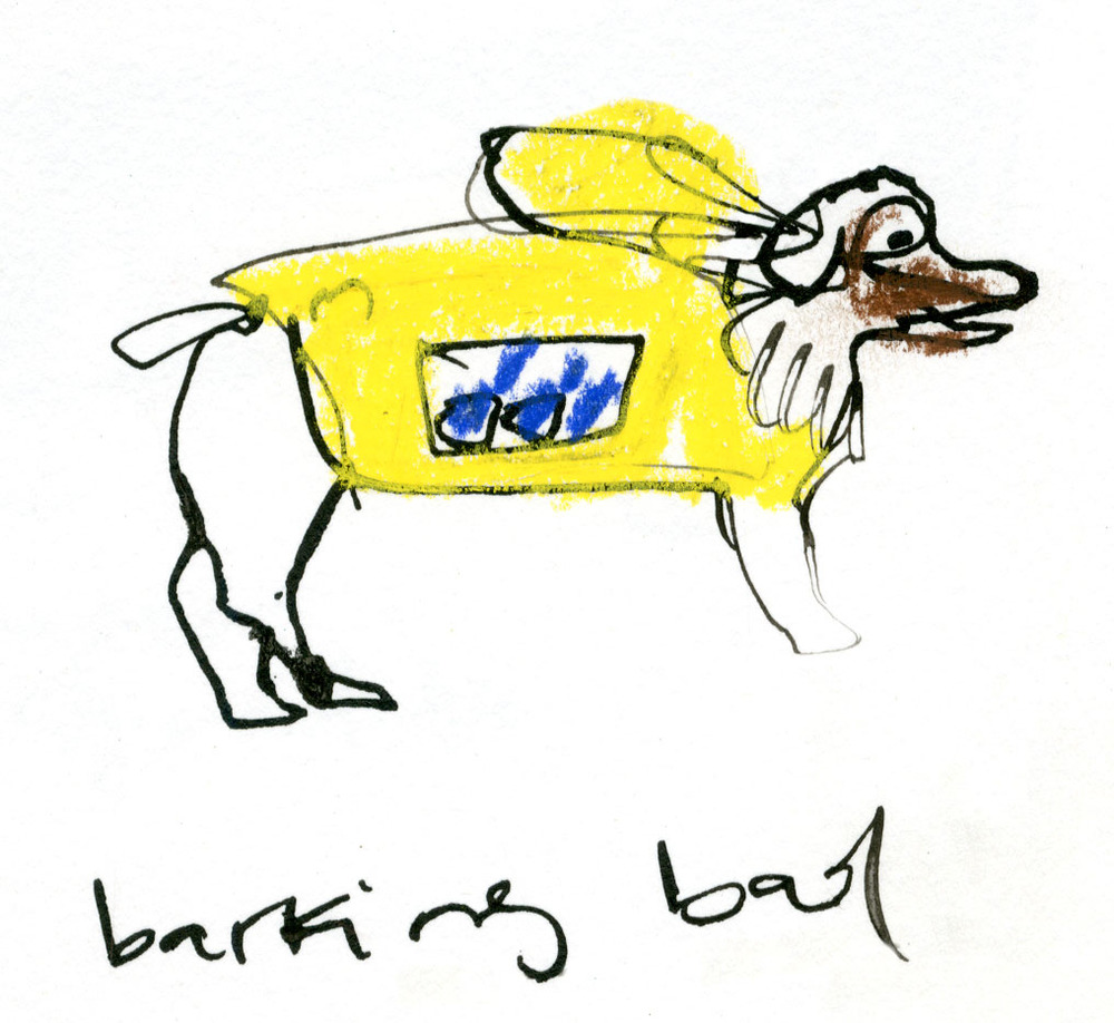 Barking Bad dog, complete with a bag of blue meth © Carly Larsson 2014