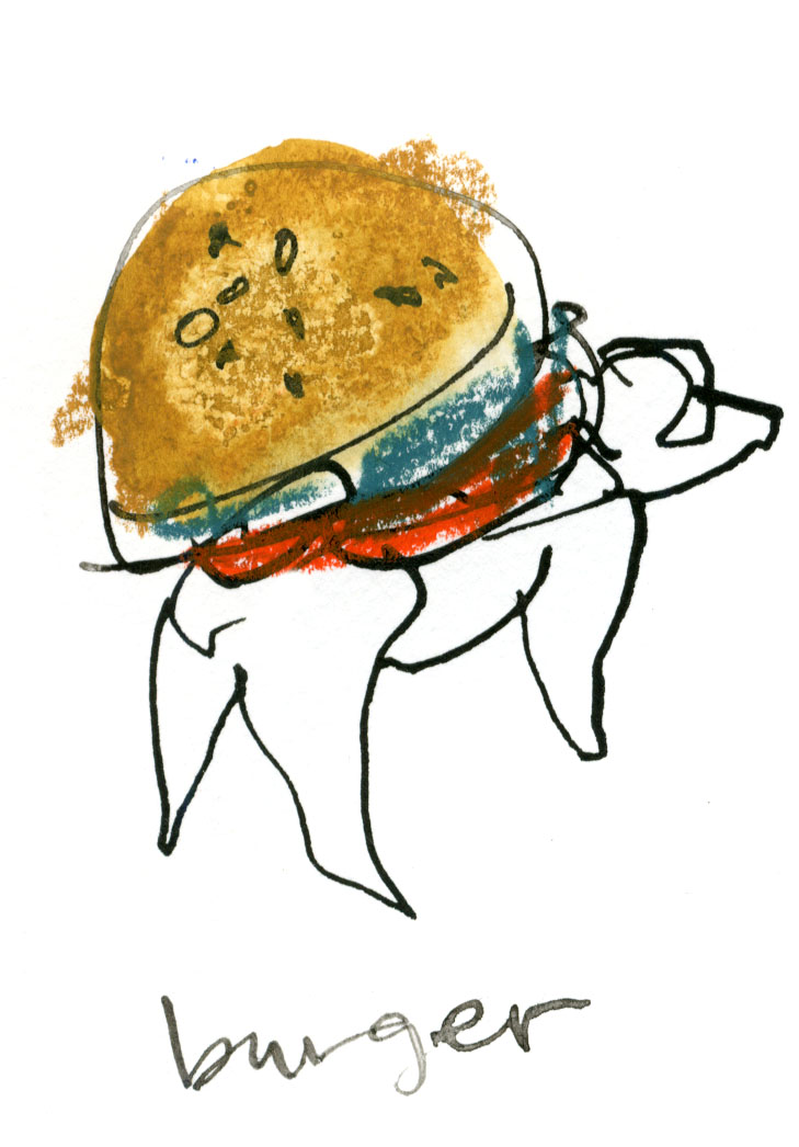 An adorable burger pup © Carly Larsson 2014